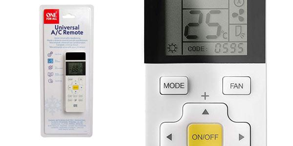 Mando a distancia universal para aire acondicionado One For All URC1035 en oferta en Amazon