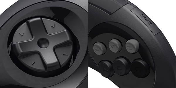 Mando Mini Retro-Bit con 6 botones para SEGA Mega Drive Mini barato