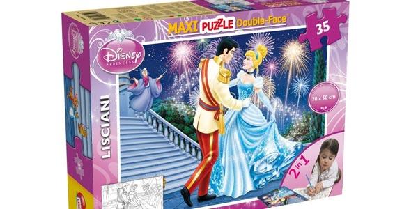 Maxi Puzle Doble Cara Princesas Disney La cenicienta de 35 piezas barato en Amazon