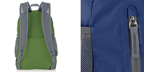 mochila de tela plegable AmazonBasics relación calidad-precio estupenda