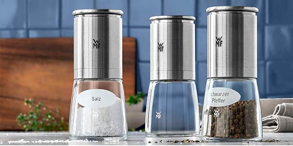 molinillos para especias de cristal y acero WMF Ceramill de Luxe oferta