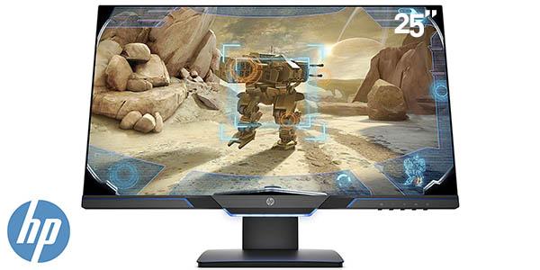 """Monitor gaming HP 25MX de 25"""" Full HD, 144 Hz y FreeSync"""
