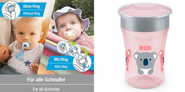 NUK Magic Cup set conjunto vaso y chupete para bebés oferta