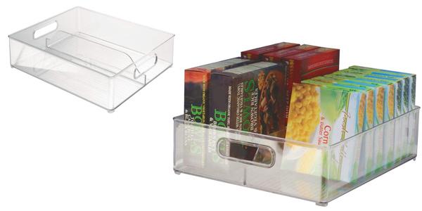 Organizador de nevera transparente InterDesign Fridge/Freeze Binz con 2 compartimentos barato en Amazon