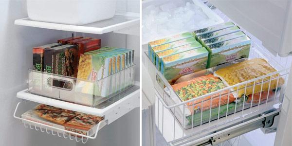 Organizador de nevera transparente InterDesign Fridge/Freeze Binz con 2 compartimentos chollo en Amazon
