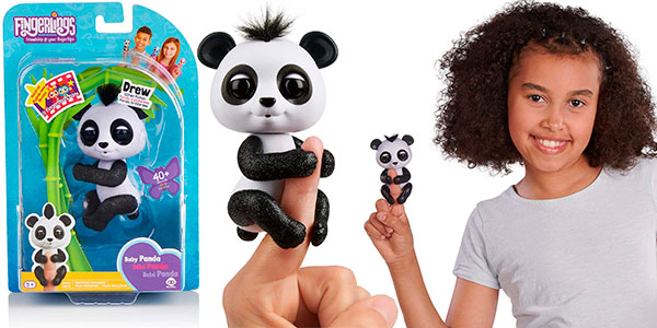 Oso interactivo Baby Panda Fingerlings barato