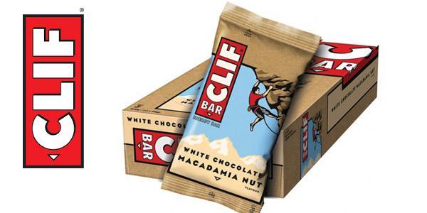 Pack x12 Barrita energética CLIF de avena con chocolate blanco y nuez de Macadamia de 68 gr/ud barato en Amazon