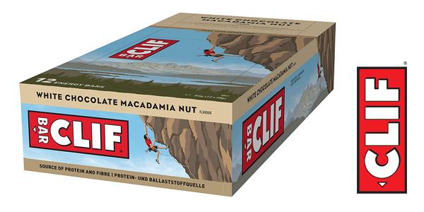 Pack x12 Barrita energética CLIF de avena con chocolate blanco y nuez de Macadamia de 68 gr/ud chollo en Amazon