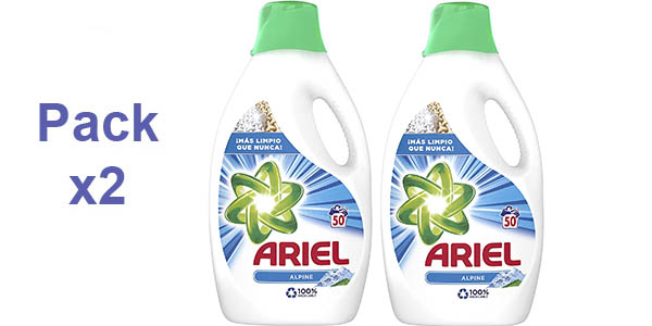 Pack x2 Detergente Líquido Ariel Alpine
