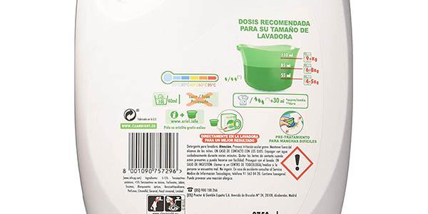 Pack x2 Detergente Líquido Ariel Alpine barato