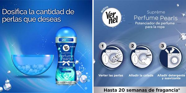 Pack x4 Vernel Supreme Pearls Potenciador Fresh Joy de perfume para la ropa 260 gr/ud chollazo en Amazon
