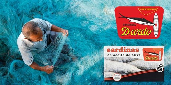 Pack x5 latas Dardo Sardinas en Aceite de Oliva 118gr/ud chollo en Amazon