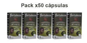 Pack x50 Cápsulas Café Fortaleza Etiopía Intensidad 8 barato en Amazon
