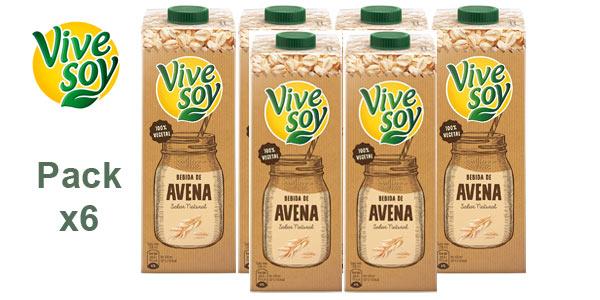 Pack x6 Vivesoy Bebida de avena 1 L/ud barato en Amazon