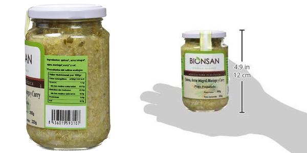 Pack x6 Bionsan Quínoa con Arroz Integral y Moringa de 220 gr/ud chollo en Amazon