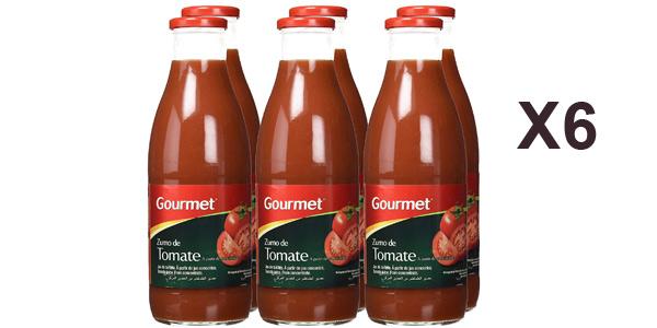 Pack x6 Zumo de tomate Gourmet botella 1 L barato en Amazon