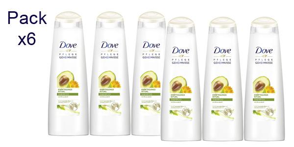 Pack x6 Champú Dove Ritual Secrets Aguacate de 250 ml/ud barato en Amazon