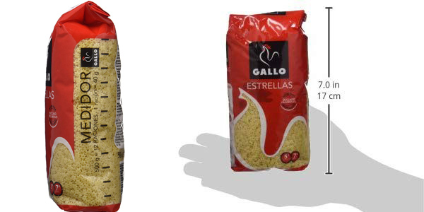 Pack x6 paquetes Pastas Gallo Estrellas de 500 gr/ud chollo en Amazon