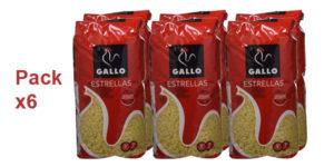 Pack x6 paquetes Pastas Gallo Estrellas de 500 gr/ud barato en Amazon