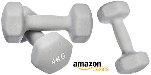 Pack AmazonBasics de 2 mancuernas de neopreno de 4 kg barato