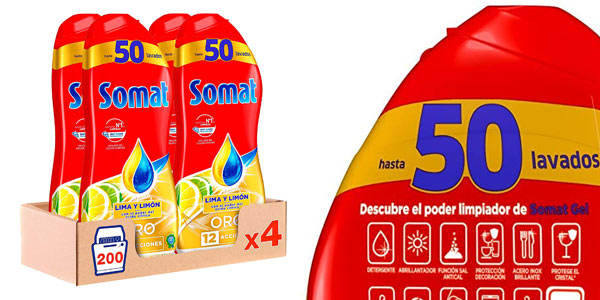 Pack Somat Oro gel lavavajillas barato en Amazon