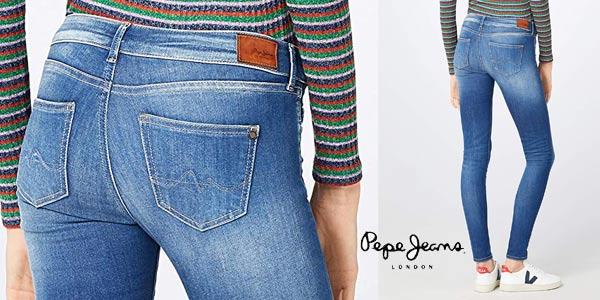 Pantalones vaqueros Pepe Jeans Pixie para mujer chollo en Amazon