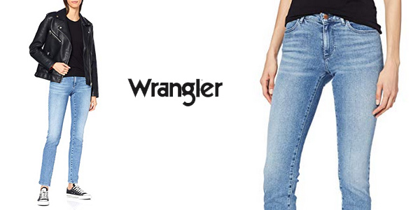 Pantalones vaqueros Wrangler Slim para Mujer baratos en Amazon