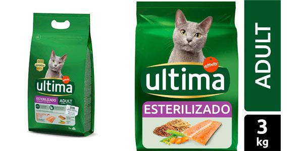 Pienso Ultima para gato esterilizado de 3 kg barato en Amazon