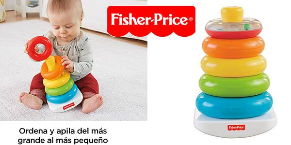 pirámide de aros balanceante Fisher Price para bebés chollo