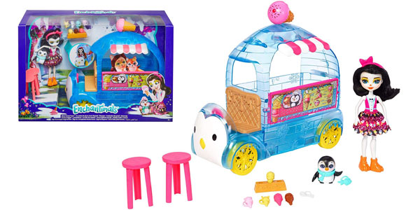Playset Mattel Enchantimals Wheel Frozen Treats Preena Penguin Doll (FKY58) barato en Amazon