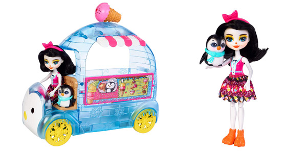 Playset Mattel Enchantimals Wheel Frozen Treats Preena Penguin Doll (FKY58) chollo en Amazon