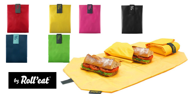 Porta Bocadillos Reutilizable Roll' eat Boc'n'Roll barato en Amazon