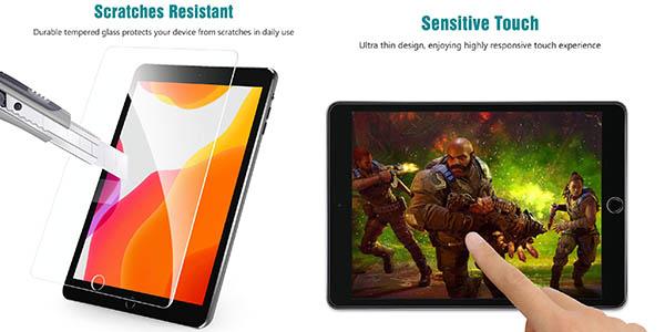 protector de cristal templado para iPad 2019 Apiker resistente oferta
