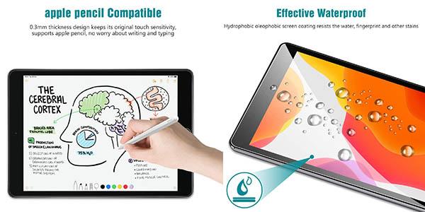 protector para iPad 2019 en cristal resistente tempado chollo