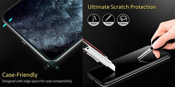 protector resistente ESR para pantallas de iPhone con buenas valoraciones chollo