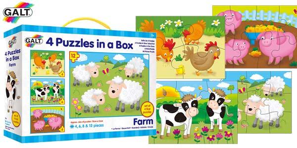 "Set 4 puzles infantiles didácticos ""Mi Primer Puzle"" de Galt barato en Amazon"