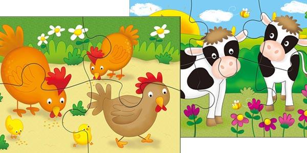 """Set 4 puzles infantiles didácticos """"Mi Primer Puzle"""" de Galt chollo en Amazon"""