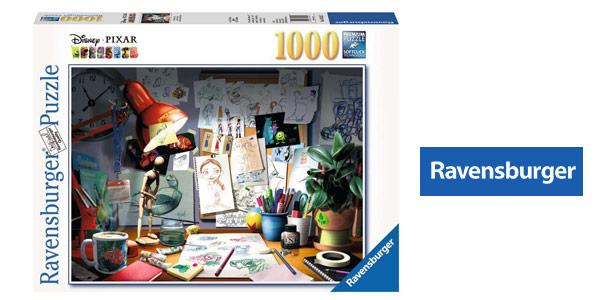 Puzle 1000 piezas Ravensburguer Disney Pixar the Artist's Desk chollo en Amazon