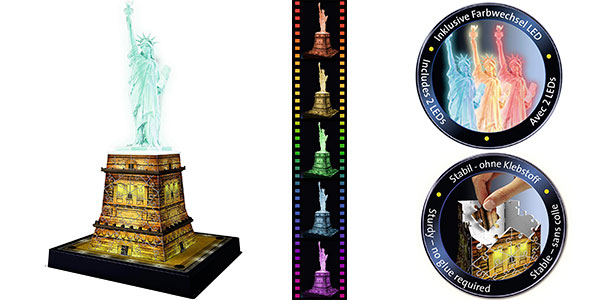 Puzle 3D Ravensburger Estatua de la Libertad barato