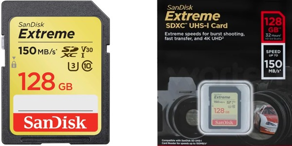 Tarjeta de memoria SanDisk Extreme SDXC de 128 GB