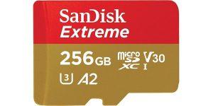 Tarjeta microSDXC SanDisk Extreme A2 de 256 GB