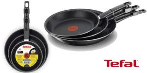Set x3 sartenes Tefal First Cook antiadherentes de 18/22/26 con Thermo Spot baratas en Amazon