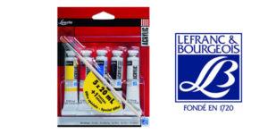 Pack x5 Pinturas Acrílicas Louvre de Lefranc & Bourgeois Louvre de 20 ml/ud + pincel barato en Amazon