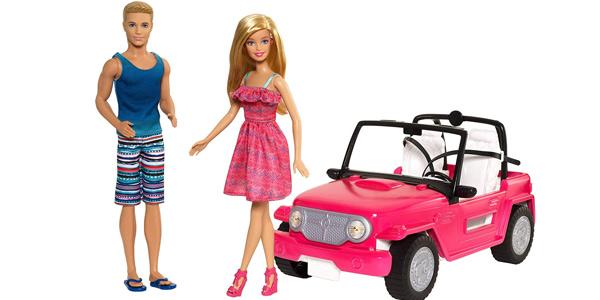 Set Ken & Barbie en su coche de playa (Mattel CJD12) chollo en Amazon
