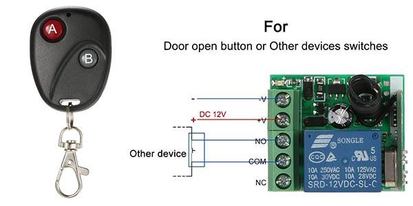 sistema de apertura para puertas con mando a distancia Owsoo chollo