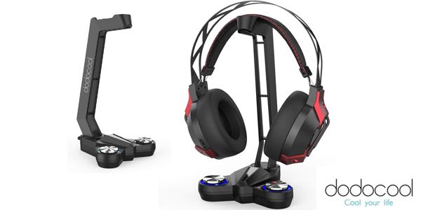 Soporte Auriculares dodocool iseño Gaming con luz LED y sonido envolvente 7.1 barato en Amazon