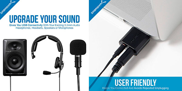 Tarjeta de sonido externa USB Sabrent para Windows y Mac (estéreo y entrada micro) barata