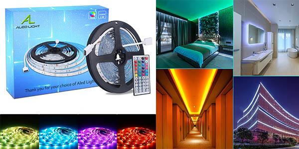 Tira LED RGB con luces de colores barata
