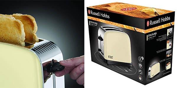 tostadora Russell Hobbs Colour Plus para rebanadas gruesas de pan chollo