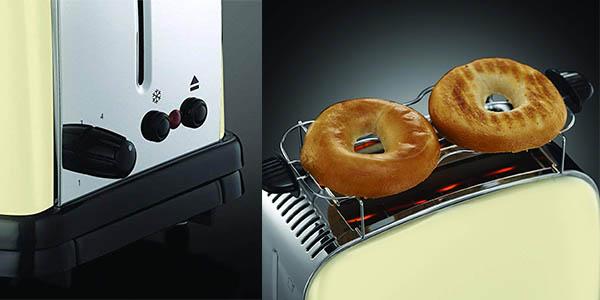tostadora Russell Hobbs Colour Plus de calidad con rejilla para descongelar chollo
